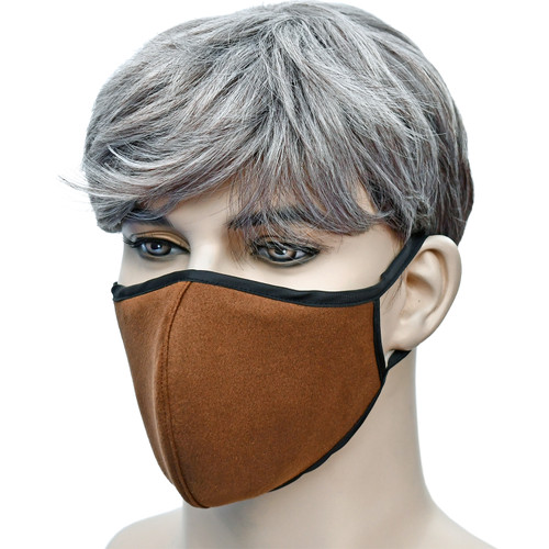 YaYmask - Camel Color Cloth Face Mask Side View