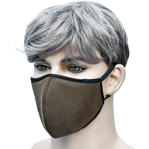 YaYmask - Dark Olive Color Cloth Face Mask Side View