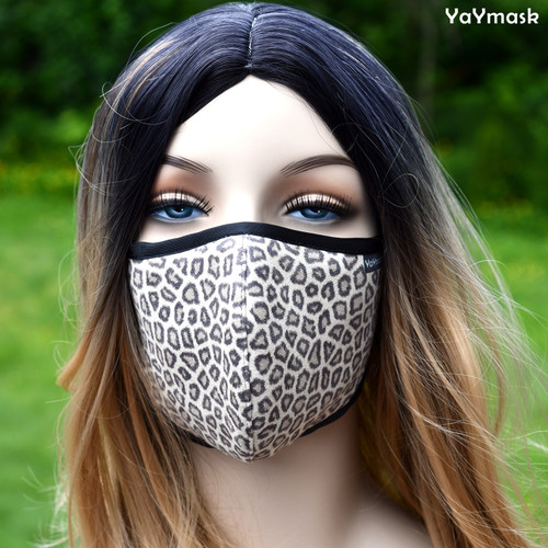 YaYmask - Brown Leopard Pattern Design Cloth Face Mask