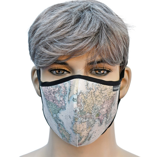 YaYmask - Map Design Cloth Face Mask Front View
