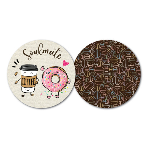Disposable paper coasters