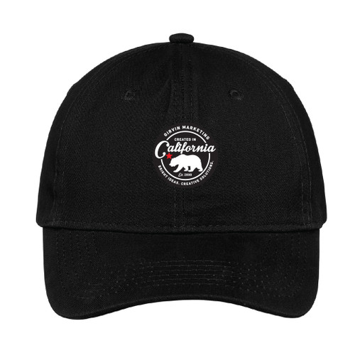 California Brand Brushed Twill Low Profile Cap - Black