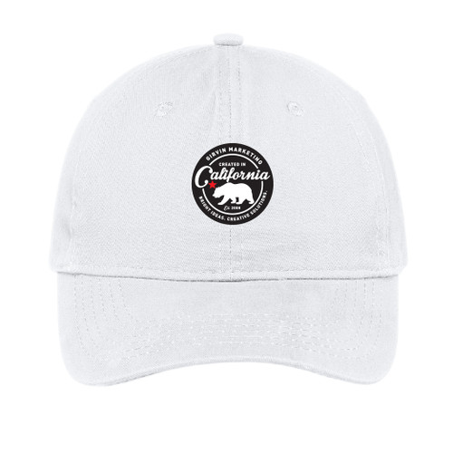 California Brand Brushed Twill Low Profile Cap - White
