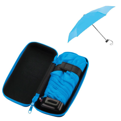 "(In-Stock) Hornblower 37"" Mini Folding Travel  Umbrella with Case"