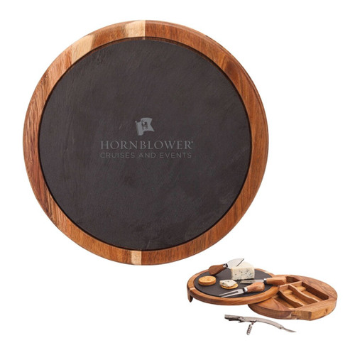 (In-Stock) Hornblower Normandy Swivel Base Cheese/Wine Set