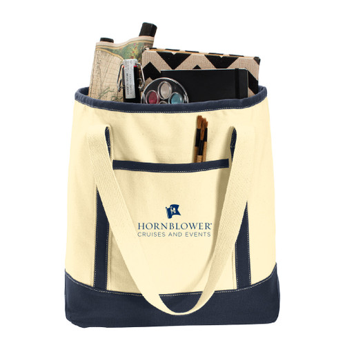 (Custom) Hornblower Port Authority® Large Cotton Canvas Boat Tote