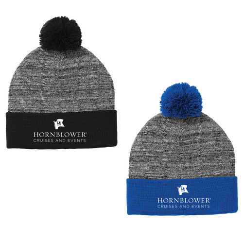 (Custom) Hornblower Sport-Tek ® Heather Pom Pom Beanie