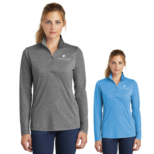 (Custom) Hornblower Sport-Tek ® PosiCharge ® Tri-Blend Wicking 1/4-Zip Pullover - Ladies