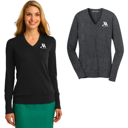 (Custom) Marriott Ladies V-Neck Sweater