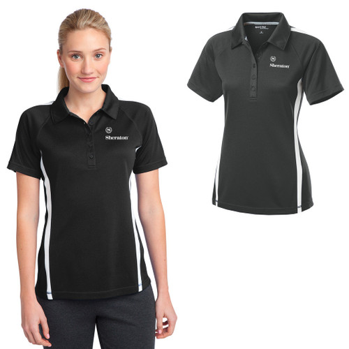 (Custom) Sheraton Ladies PosiCharge® Micro-Mesh Colorblock Polo