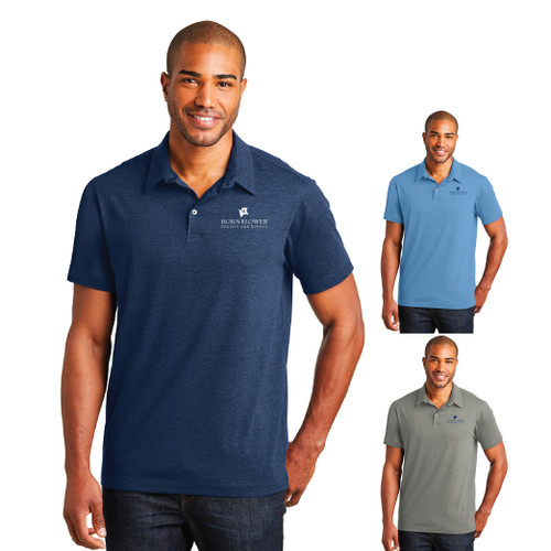 (Custom) Hornblower Port Authority® Meridian Cotton Blend Polo - Men's