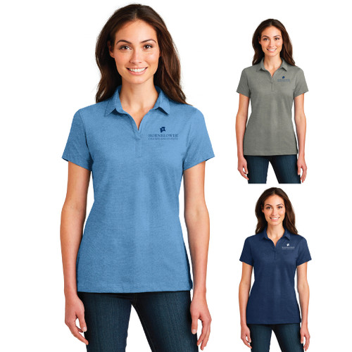 (Custom) Hornblower Port Authority® Meridian Cotton Blend Polo - Ladies