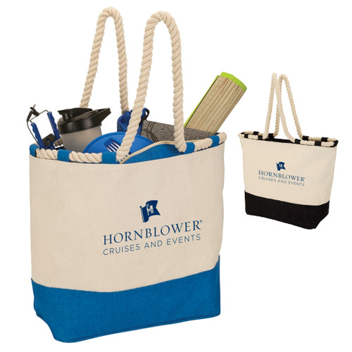 (Custom) Hornblower Barcelona Canvas & Jute Tote