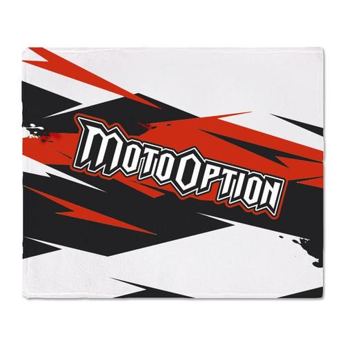 Motooption Fleece Blanket.  BMX, FMX, MTB, MX.