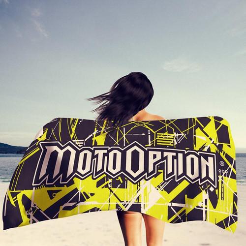 Motooption Beach Towel.  BMX, FMX, MTB, MX.