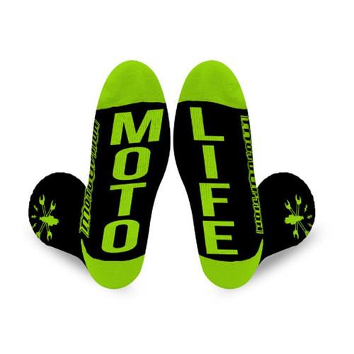 Motooption Spark Crew Socks.  BMX, FMX, MTB, MX.