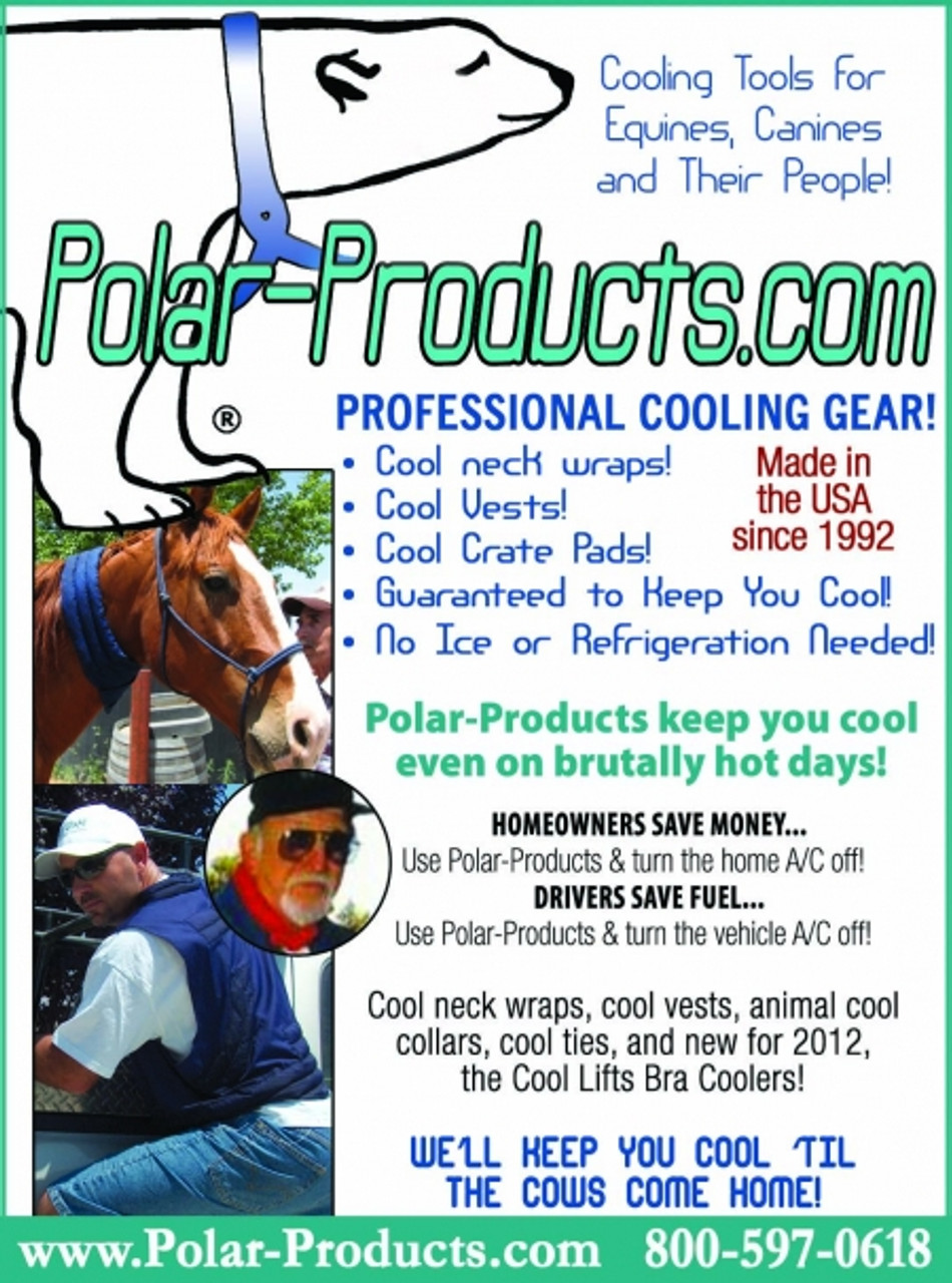 Personal cooling gear to stay cool. Cool vests and equine wraps.