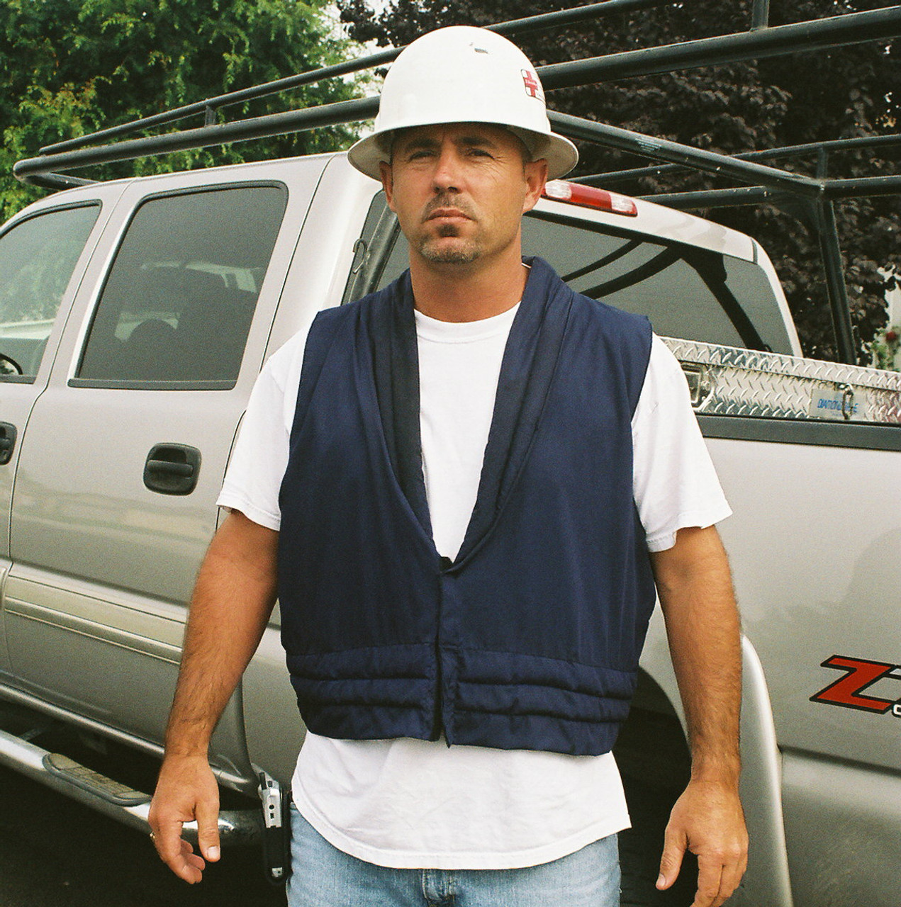 Cool vests by Polar-Products keep professionals cool on the hottest days.