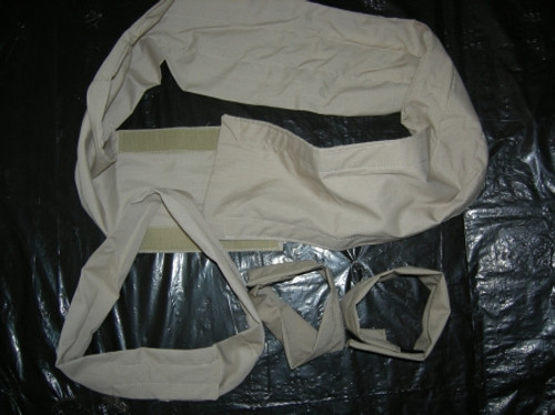 Polar Back Wrap, Cool Neck Wrap, Cooling Wrist Wraps beat heat stress. Cool Combo in tan before soaking.