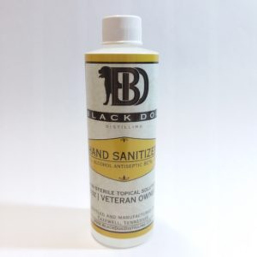 8oz Black Dog Distiling Hand Sanitizer