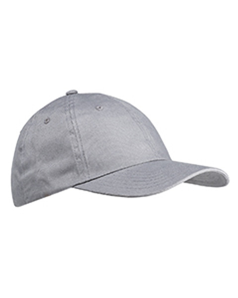 6-Panel Brushed Twill Unstructured Cap
