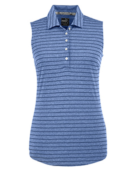 Rotation Stripe Sleeveless Polo
