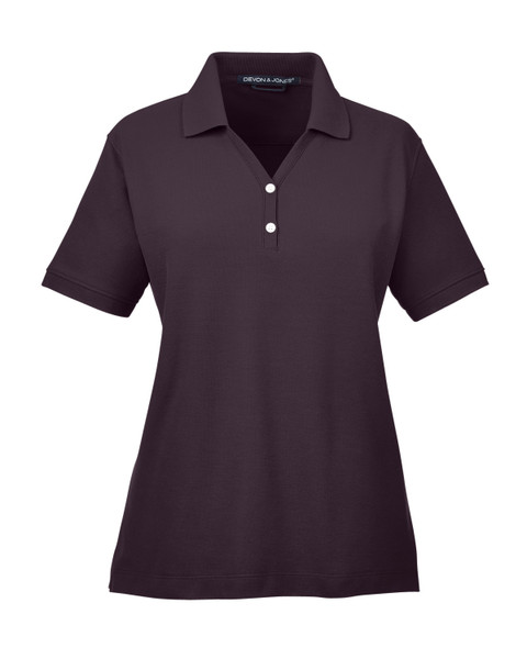 Ladies' Pima Piqué Short-Sleeve Y-Collar Polo
