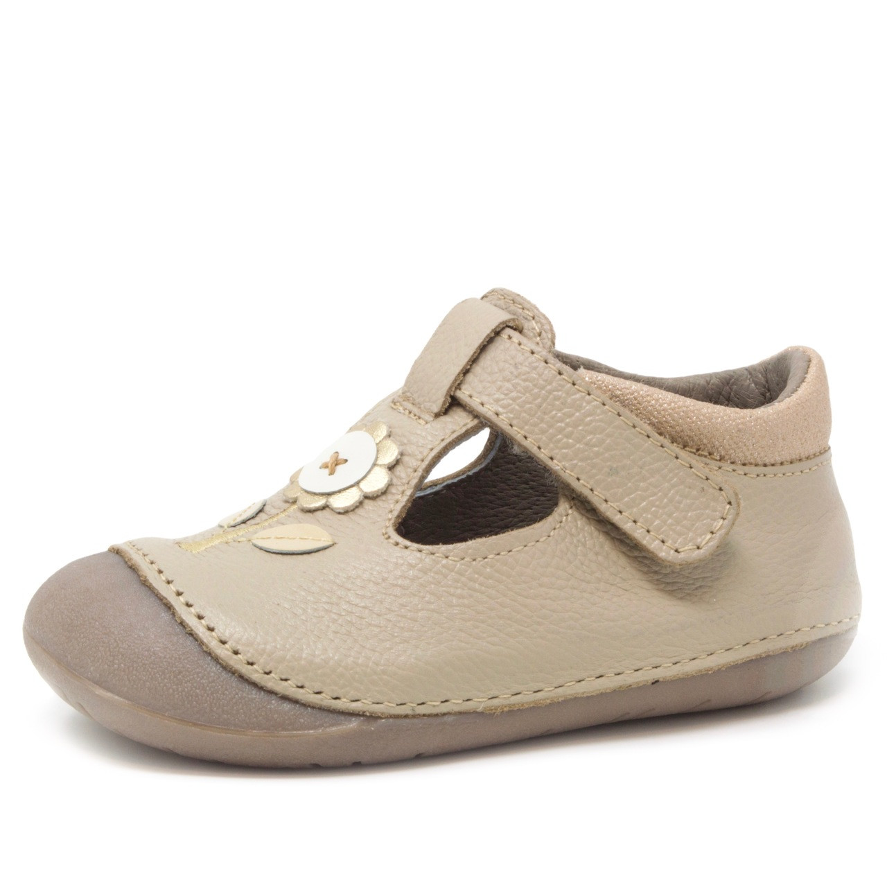 Wobbly Waddlers Natura Poppy Baby Toddler Girl Leather Shoes Arch Support