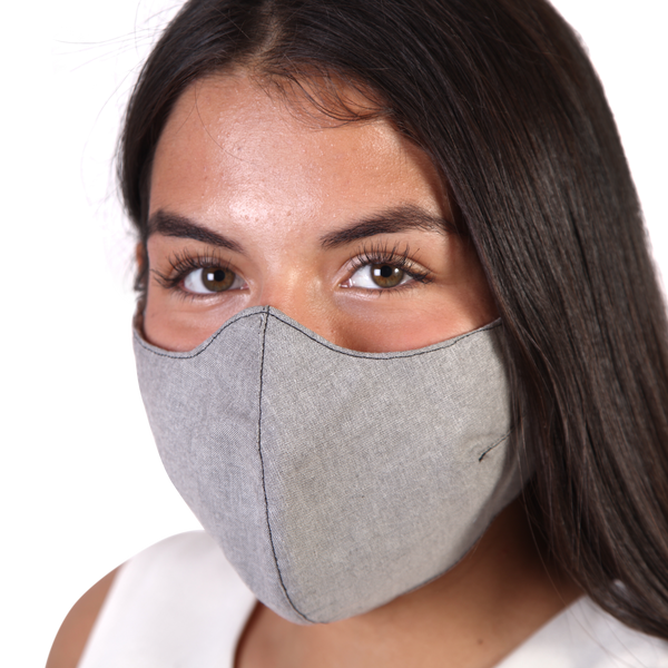 GRAY OXFORD Face Mask  (Adult & Kids sizes)