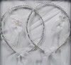 Hand made wedding crowns direct from Cyprus.  www.crownstefana.com