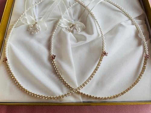 Pearl Diamonte Stefana by Crown Stefana