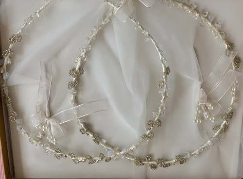 Art Deco Greek Orthodox Wedding Crowns