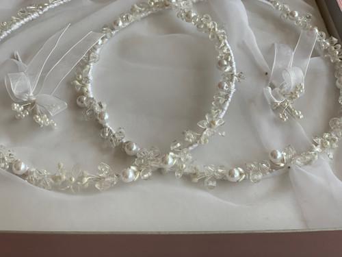 Crystal Pearl Bloom Stefana by www.crownstefana.com