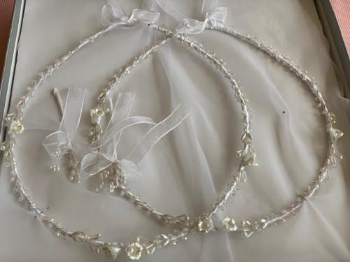 Crystal Pearl Flora Stefana by Crown Stefana