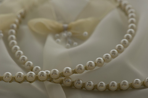 Stefana Pearl Opulence Greek Orthodox wedding crowns