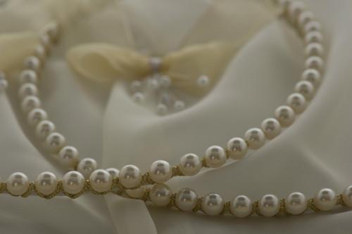 Stefana Pearl Opulence Greek Orthodox wedding crowns