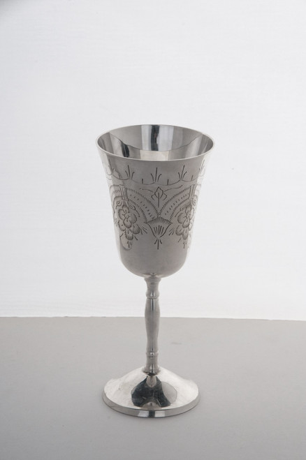 Silver Plated Wine Goblet used during the Greek Orthodox Wedding Ceremony.