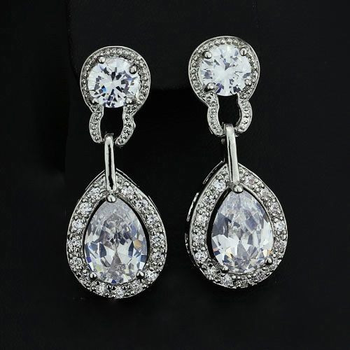 Elegant Teardrop Dangle Earrings from www.crownstefana.com Free shipping in Cyprus