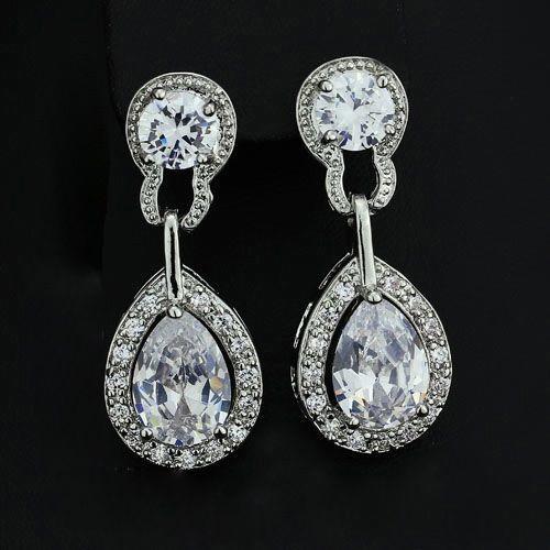 Elegant Teardrop Dangle Earrings from www.crownstefana.com Free shipping in Cyprus