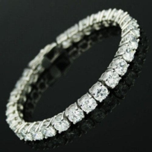 Cubic Zirconia Tennis Bracelet www.crownstefana.com