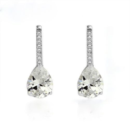 Teardrop Crystal Accent Earrings www.crownstefana.com