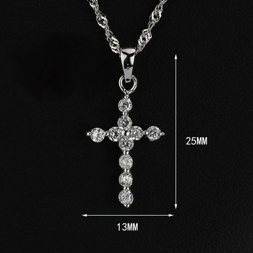 925 Sterling Silver Radiant Cross www.crownstefana.com