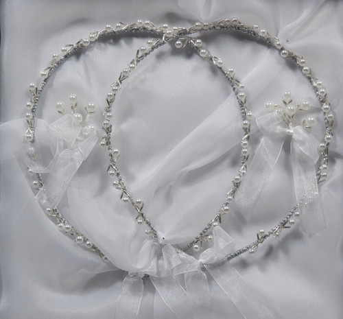 Hand made wedding crowns direct from Cyprus www.crownstefana.com