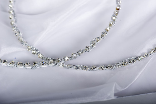 Crown stefana introduces Princess Diamonte wedding crowns. www.crownstefana.com