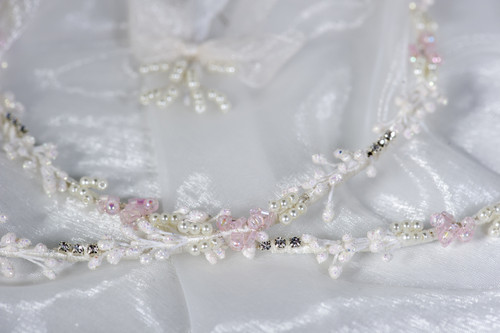 Crown Stefana presents Pink Accent Stefana Greek Orthodox Wedding Crowns