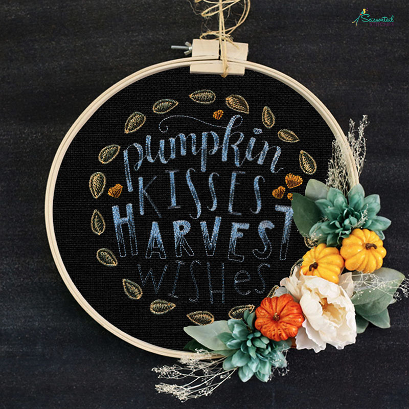 Fall and autumn machine embroidery designs