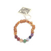 Raw Honey Amber Teething Bracelet, Rainbow
