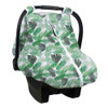 Muslin Car Seat Cover, Palms