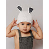 Bamboo Bunny Hat, White & Grey