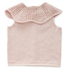 Oeuf Scalloped Collar Vest, Pink